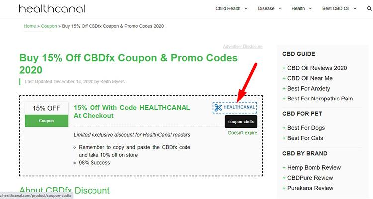 cbdfx coupon HEALTHCANAL
