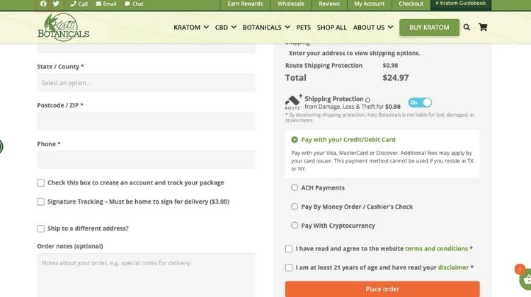 Complete the katsbotanicals.com order