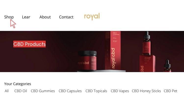 First go to Royal CBD website