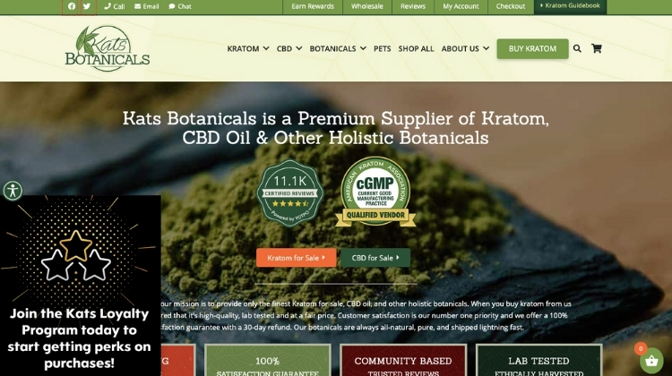 Go to the official Kats Botanicals website