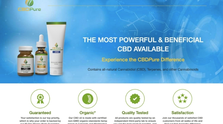 Open CBDPure.com To Visit The Official Website