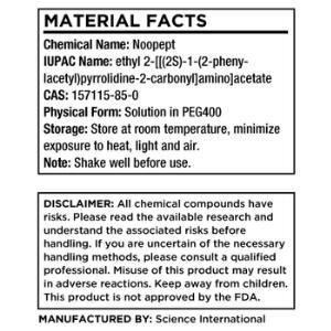 Science Bio Noopept Ingredients