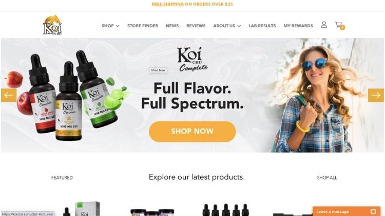 Visit Koi CBD website
