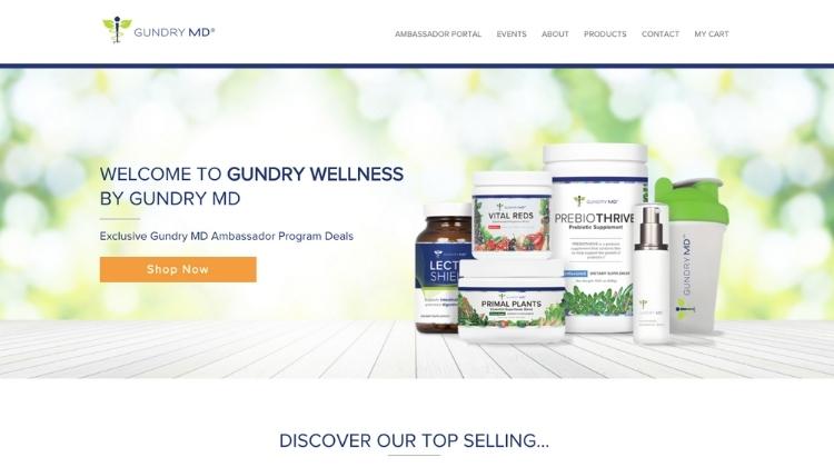 Visit the Gundry MD's ambassador website